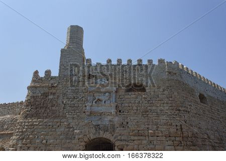 Venetian Fortress Koules. Fragment. Located in the old port of Heraklion Crete Greece