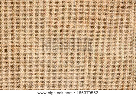 Sackcloth or burlap background with visible texture with copy space for text and other web or print design elements.