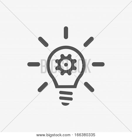bulb icon stock vector illustration flat design