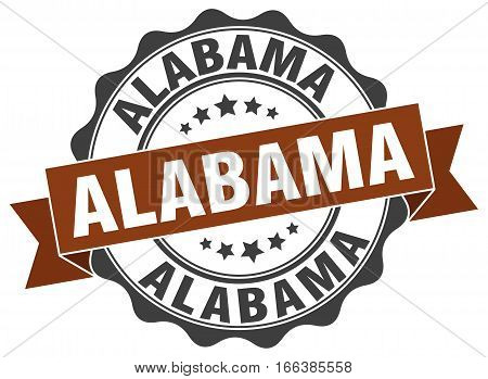 Alabama. round isolated grunge vintage retro stamp