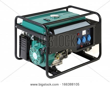 Portable Power generator (Fuel) on a white background