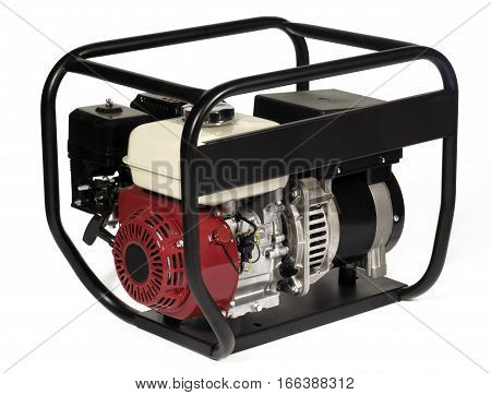 Portable power generator (Gasoline) isolated on white