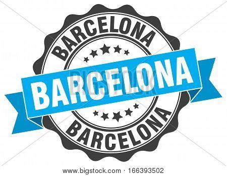 Barcelona. round isolated grunge vintage retro stamp