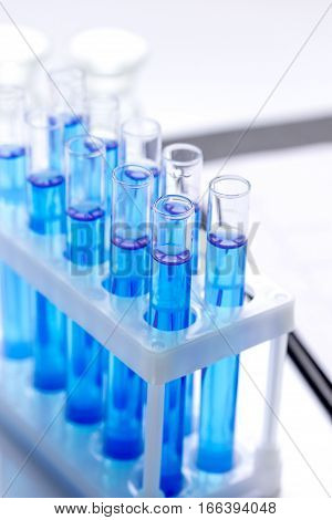 Laboratory, chemistry and science concept on white background no one