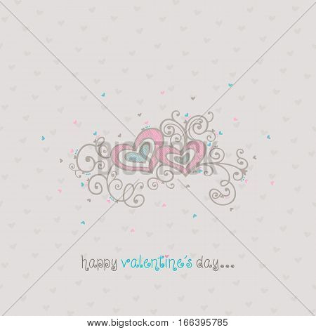 happy valentines day card background vector illustration