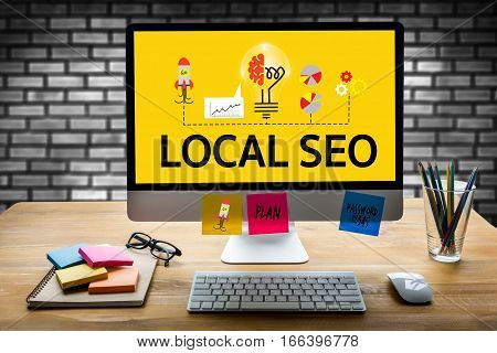LOCAL SEO ad, advertising, announce, blurred, business,