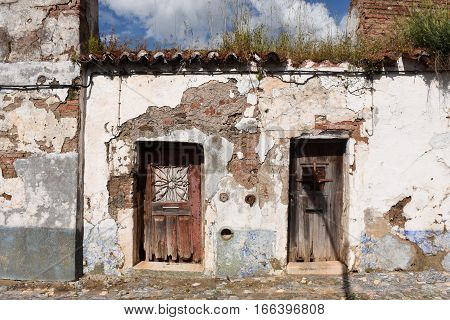 House destroyed in Vila Vicosa Alentejo region Portugal