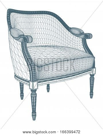 Antique Armchair Vector 22.eps