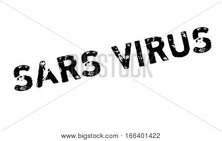 Sars Virus rubber stamp. Grunge design with dust scratches. Effects can be easily removed for a clean, crisp look. Color is easily changed.