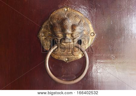 Door knobs in the Temple of Thailand