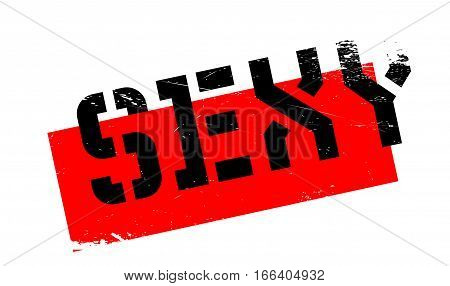 Sexy rubber stamp. Grunge design with dust scratches. Effects can be easily removed for a clean, crisp look. Color is easily changed.
