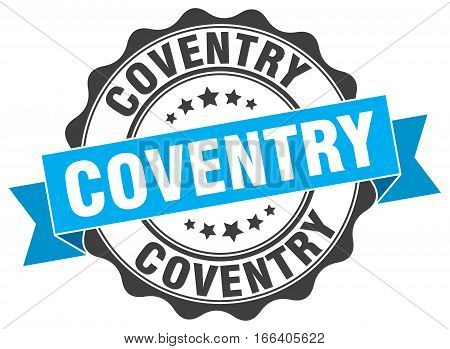 Coventry. round isolated grunge vintage retro stamp
