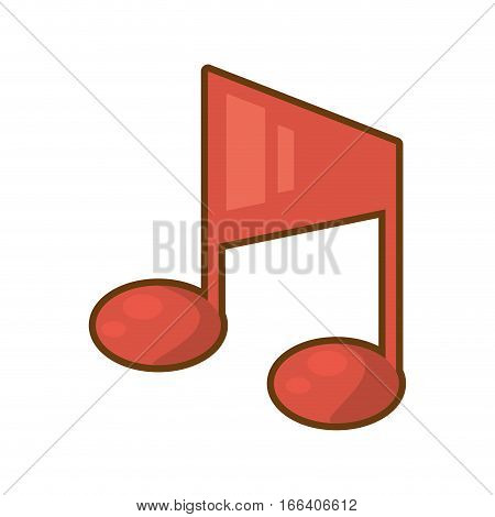cartoon quaver note musical vector illustration eps 10