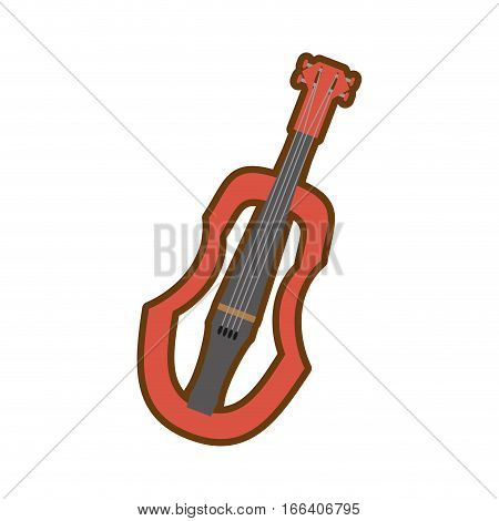cartoon wooden fiddle instrument music vector illustration eps 10