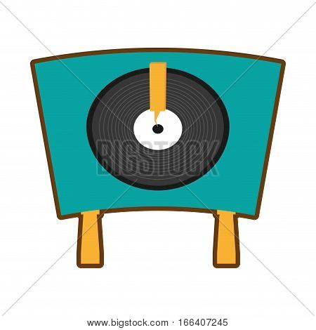 turntable vinyl record lp vector illustration eps 10