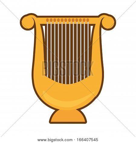 cartoon harp lyre music classic vector illustration eps 10