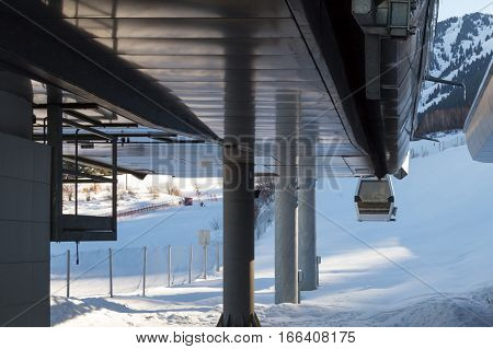 Gondola At A Ski Resort In Kazakhstan
