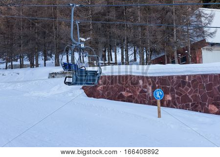 Sign On Chairlift