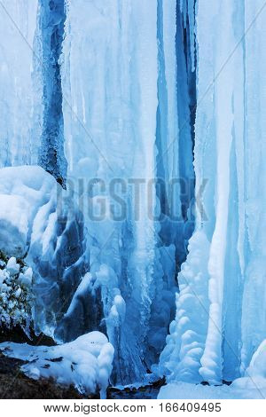 Picture Of Icicles From A Waterfall