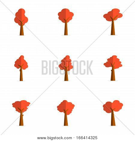 collection stock of red tree vector art