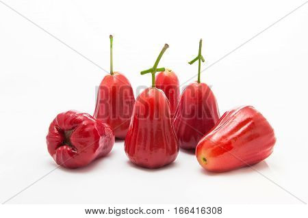 Rose Apple Thailand Apple Fruit Flavors Of Sweet Red Gloss.