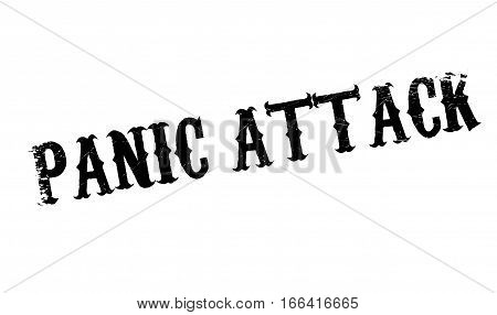Panic Attack rubber stamp. Grunge design with dust scratches. Effects can be easily removed for a clean, crisp look. Color is easily changed.