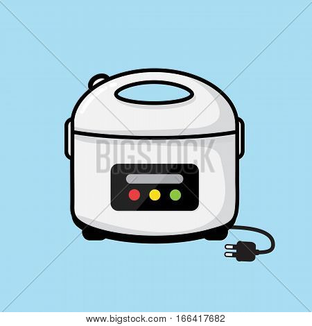 rice cooker vector Appliances in the kitchen design .
