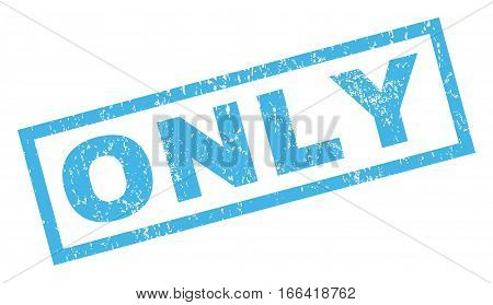 Only text rubber seal stamp watermark. Tag inside rectangular shape with grunge design and dirty texture. Inclined vector blue ink emblem on a white background.