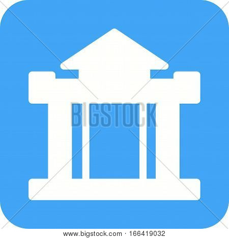 Building, bank, institution icon vector image. Can also be used for town. Suitable for web apps, mobile apps and print media.