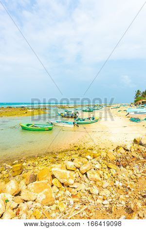 Jaffna Point Pedro Fishing Village Boats Beach V