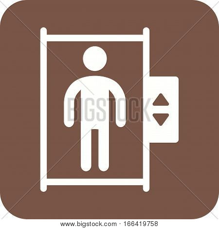 Elevator, town, lift icon vector image. Can also be used for town. Suitable for use on web apps, mobile apps and print media.