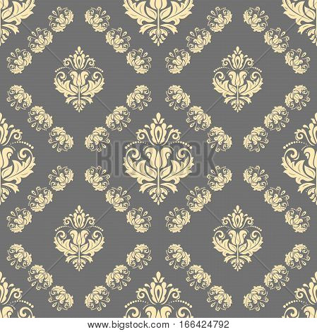 Seamless classic vector golden pattern. Traditional orient ornament. Classic vintage background