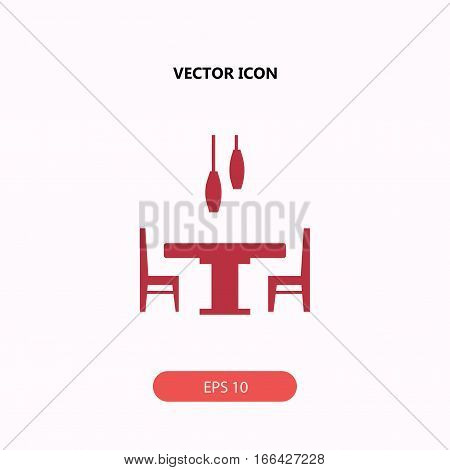 dining room interior with table chairs and chandelier Icon, dining room interior with table chairs and chandelier Icon Eps10, dining room interior with table chairs and chandelier Icon Vector, dining room interior with table chairs and chandelier Icon Eps
