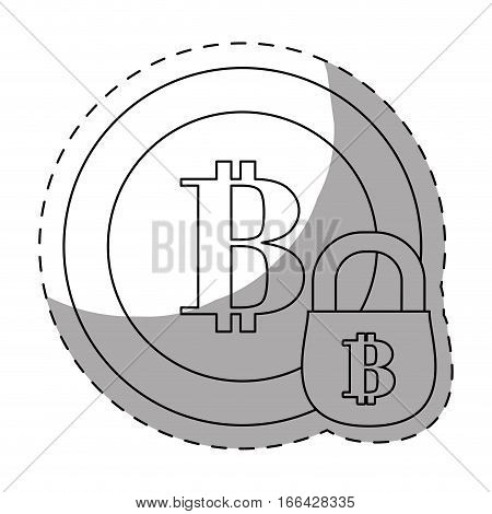 account security letter B as emblem bank related icons image vector illustration design
