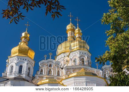 Domes of the Assumption Cathedral of the Kiev-Pechersk Lavra