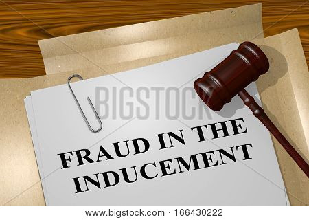 Fraud In The Inducement - Legal Concept