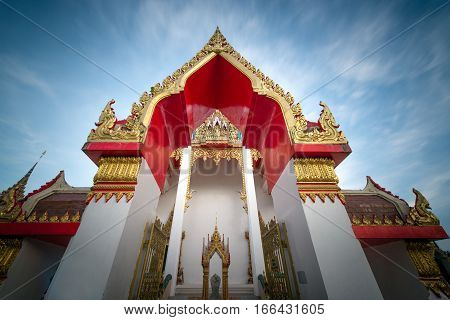 Chalong temple in Phuket - Thailand .
