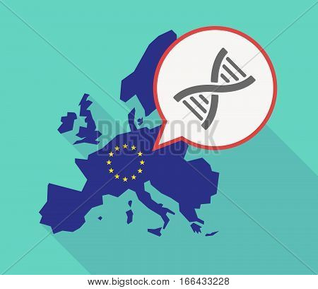 Long Shadow Eu Map With A Dna Sign