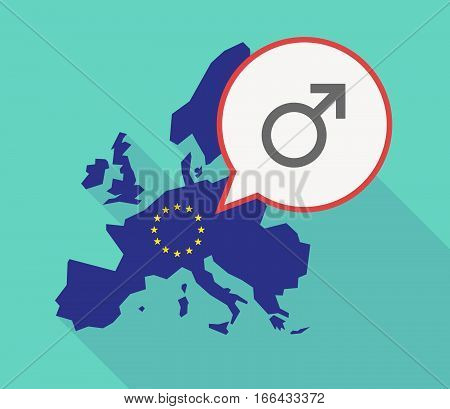 Long Shadow Eu Map With A Male Sign