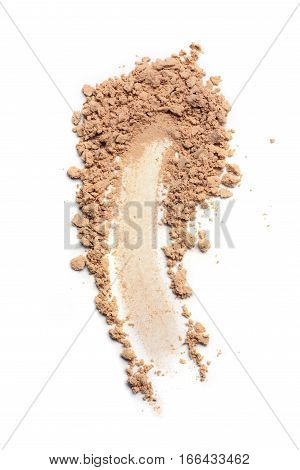 Smear Of Crushed Beige Face Powder