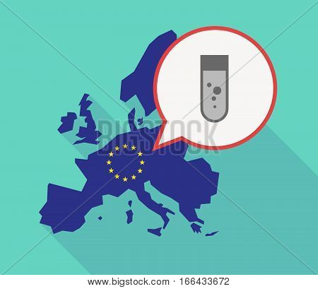 Long Shadow Eu Map With A Chemical Test Tube