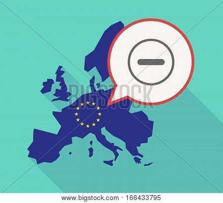 Long Shadow Eu Map With A Subtraction Sign
