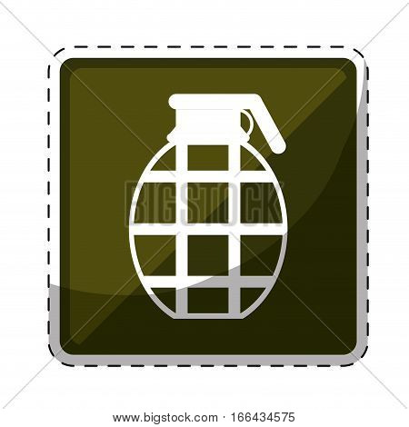 grenade army related  icons image vector illustration design