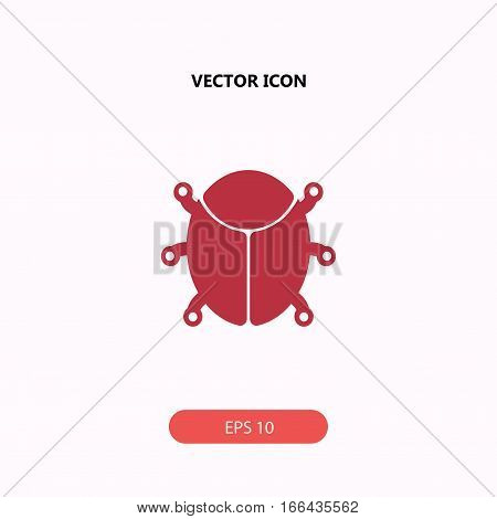 bugs vector icon isolated on white background