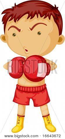 Illustration of A Boxer on white background