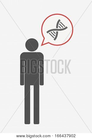 Isolated Pictogram With A Dna Sign