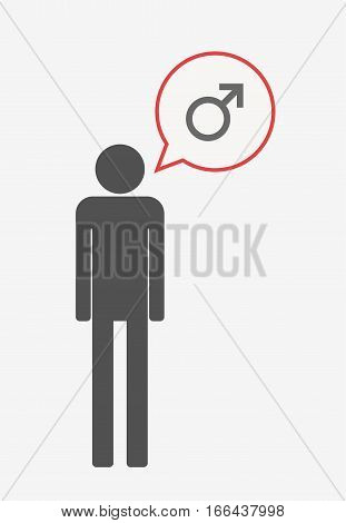 Isolated Pictogram With A Male Sign