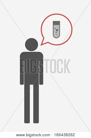 Isolated Pictogram With A Chemical Test Tube