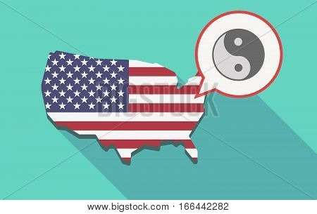 Long Shadow Usa Map With A Ying Yang