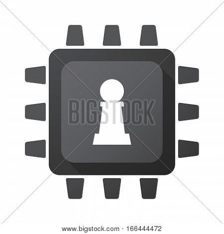 Isolated Chip With A  Pawn Chess Figure